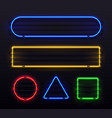 realistic neon frame shiny banner with electric vector image vector image