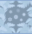 seamless frosty pattern on the glass vector image vector image