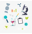 Set Science Lab Objects and Icons vector image vector image