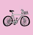 Simple bike vector image vector image
