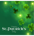 st patricks day background with shamrock lucky vector image vector image