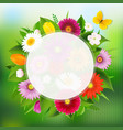 summer poster with flowers vector image