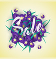 summer sale background with iris flowers vector image