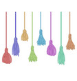 tassel trim fabric curtain tassels fringe bunch vector image vector image