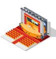 theatre interior concept vector image vector image
