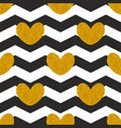 tile pattern with golden hearts vector image vector image