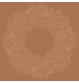 Traditional circle oriental floral ornament vector image vector image
