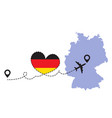 travel to germany airplane vector image vector image