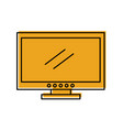 tv plasma isolated icon vector image vector image