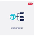 two color internet server icon from computer vector image vector image