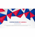 usa united states america template banner full vector image