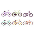 various bicycles collection bikes with different vector image vector image