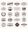 vintage retro logos labels typography logo vector image vector image