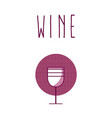 wine cup round icon vector image vector image