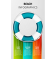 Beach infographics vector image