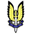 sas badge vector image