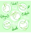Apple diet Ripe apples vector image
