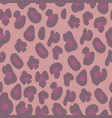pink leopard print seamless background vector image