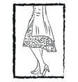 a lady wearing stylish stilettos or color vector image vector image