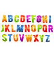 Alphabet 3D Text vector image vector image