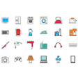 Appliances colorful icons set vector image