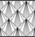 art deco pattern fanning seamless black and white vector image