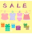 babies clothes kids icons collectionsale vector image