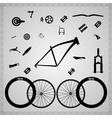 Bicycle components vector image