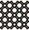 black and white geometric seamless lattice pattern vector image vector image