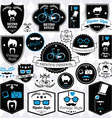 Collection of vintage hipster badges labels and vector image vector image