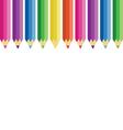 color pencils set vector image vector image