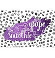 Colorful bright hand lettering poster grape berry vector image
