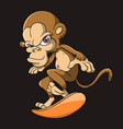 cool monkey is playing board vector image