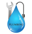 drop water faucet symbol vector image vector image