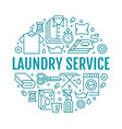 dry cleaning banner with flat line vector image vector image