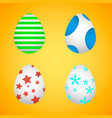 easter eggs easter eggs for easter holidays vector image vector image