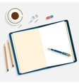 Flat design mockup per office workspace vector image vector image