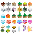 game assets isometric texture bricks and magic vector image vector image