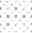 gear icons pattern seamless white background vector image vector image