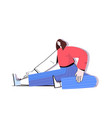 girl doing stretching exercises healthy lifestyle vector image vector image