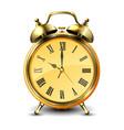 golden retro style alarm clock vector image