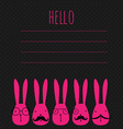 greeting card with rabbits vector image vector image