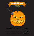 halloween party invitation scary pumpkin vector image vector image