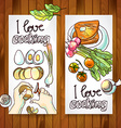 horizontal banners cooking vector image