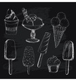 Ice cream on chalkboard vector image vector image