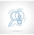 Idea search blue flat line icon vector image
