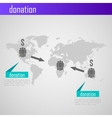 Infographic donation for web or print design vector image vector image