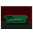 Interior green couch vector image