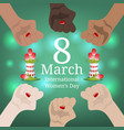 international womens day banner womens march vector image vector image