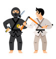japan sport people flat style colorful vector image vector image